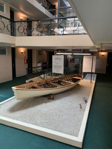 The restored Punt Gordon on display at the Lenna