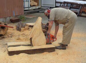Peter H sawing