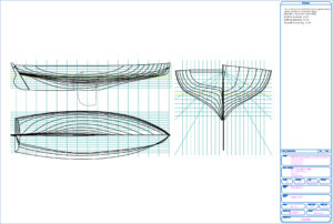 Icon of Tassie Too lines drawing. Click to show full size